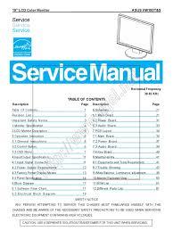 asus monitor vw193t u0026amp vw193s service manual