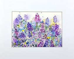Lavender Home Decor Sale Lavender Art Lavender Watercolor Lavender Painting