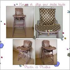 coussin chaise haute bebe housse pour chaise haute couture bébé