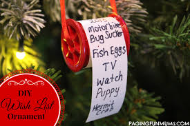 adorable wish list ornament paging mums
