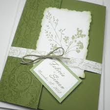 wedding pocket invitations green white garden fabulous floret pocketfold wedding invitation