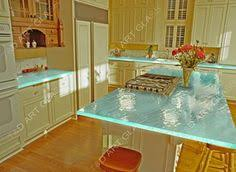 Glass Kitchen Countertops Blue Glass Counter Top Modern Kitchen Countertops Other