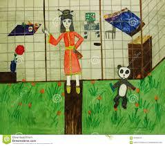 japanese house drawing royalty free stock photos image 34613318