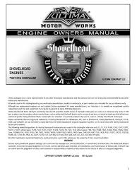 shovel head engine manual carburetor ignition system