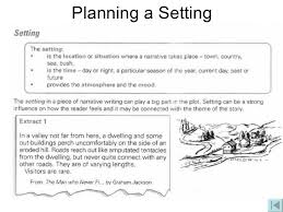 narrative writing setting lessons tes teach