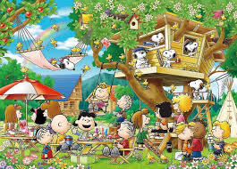 snoopy tree epoch jigsaw puzzle 21 107 peanuts snoopy tree house 3000 s pieces