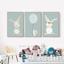 rabbit poster nordic poster kids room rabbit posters and prints wall