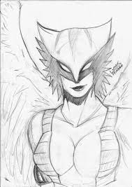 hawkgirl sketch by lucashikaru on deviantart