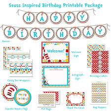 dr seuss hat template free seuss cat in the hat printable birthday party package chevron