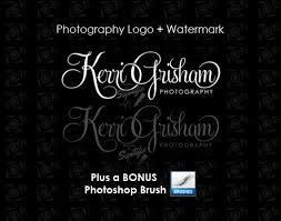 design photography logo photoshop photography logo watermark bonus photoshop brush