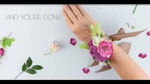 flower moxie diy wrist corsage super fast tutorial youtube