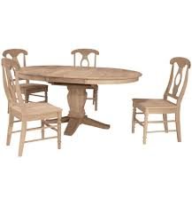 48x48 66 inch butterfly dining table bare wood fine wood