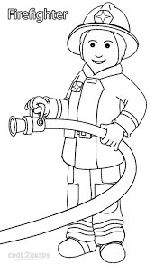 printable community helper coloring pages for kids throughout