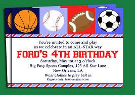 free printable sport themed birthday invitation card for boys
