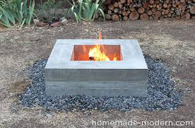 Floating Fire Pit by Homemade Modern Ep46 Concrete Fire Pit