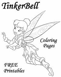 free tinkerbell coloring pages kids dessincoloriage