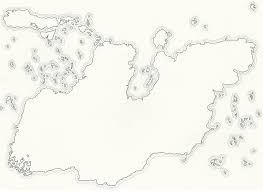 World Map Blank The Pictures For U003e Blank Fantasy World Map Black And White