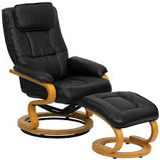 leather recliner with footrest in recliners