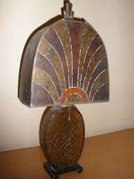Art Deco Lamp Shades Art Deco Mica Table Lamp Here U0027s Another Deco Lamp From My U2026 Flickr