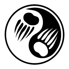 17 8 17 8cm yin yang tribal paw vinyl decal personality