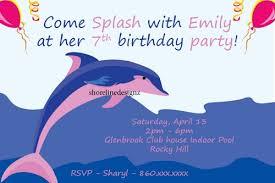 birthday party invitations dolphins cogimbo us