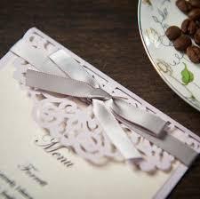 Wedding Invitations With Menu Cards Aliexpress Com Buy Lavender Laser Cut Wedding Invitations Card