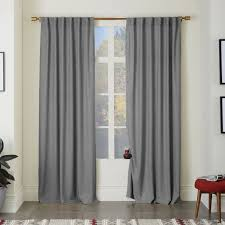 Wool Curtains 335 For 6 Panels Heathered Wool Curtain Gray West Elm