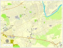 vector map allentown pennsylvania us exact vector city plan map v3