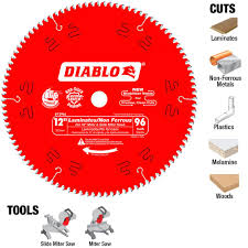 Tools For Cutting Laminate Flooring Diablo 12 In X 96 Tooth Laminate Non Ferrous Metal Cutting Saw