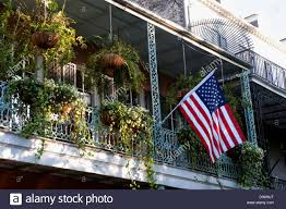 Iron On American Flag Usa Louisiana New Orleans French Quarter Architecture With