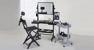 portable hair and makeup stations rolling makeup station with led neutral lights