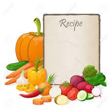 fiche recette cuisine fiche recette cuisine note modèle vierge illustration vectorielle