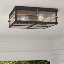 Outdoor Flush Mount Ceiling Light Outdoor Flush Mount Lights You Ll Wayfair