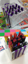 easy diy pencil holder for kids cd cases ribbon scissors and