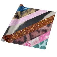 leopard wrapping paper glitter leopard skin giraffe pattern girly stripes wrapping paper