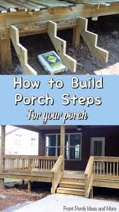 Free Woodworking Plans Projects Patterns Garden Outdoors Stairs by Building Porch Steps Outdoor Plans And Projects Woodarchivist