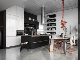 kitchen design show black architectural visualization