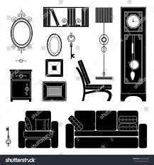 set furniture different styles stock vector 244724503 shutterstock