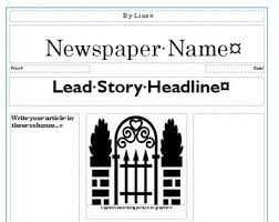 newspaper template creating newspapers in the