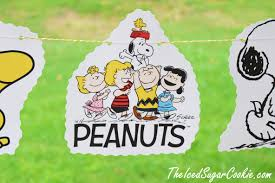 Snoopy Flags Diy Peanuts Snoopy Woodstock Charlie Brown Birthday Party Banner