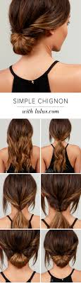 hair tutorial lulus how to simple chignon hair tutorial lulus com fashion blog