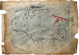 Skyrim Treasure Map Iv Map Of Dragon Burials Elder Scrolls Fandom Powered By Wikia