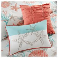 Seashell Queen Comforter Set Ocean View Seashell Comforter Set King Coral 7pc Target