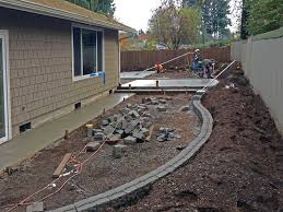 Paver Patio With Retaining Wall by Southeast Olympia Backyard Entertainment Area U0026 Kennel Ajb