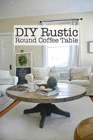 Rustic Round Coffee Table Diy Round Coffee Table Liz Marie Blog