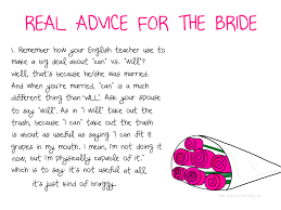 words of wisdom bridal shower advice for the this is not that