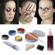 halloween makeup professional set makeup opened gaping gashes burn