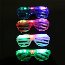 party sunglasses with lights blinking led shutter eye glasses party light up flashing novelty