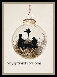 floating ornaments nativity manger vinyl and floater only