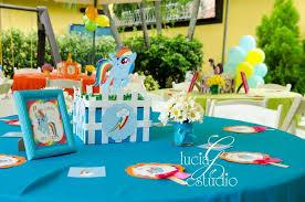 my pony centerpieces my pony birthday party ideas photo 10 of 10 catch my party